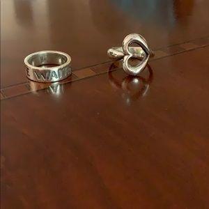 James Avery ring bundle